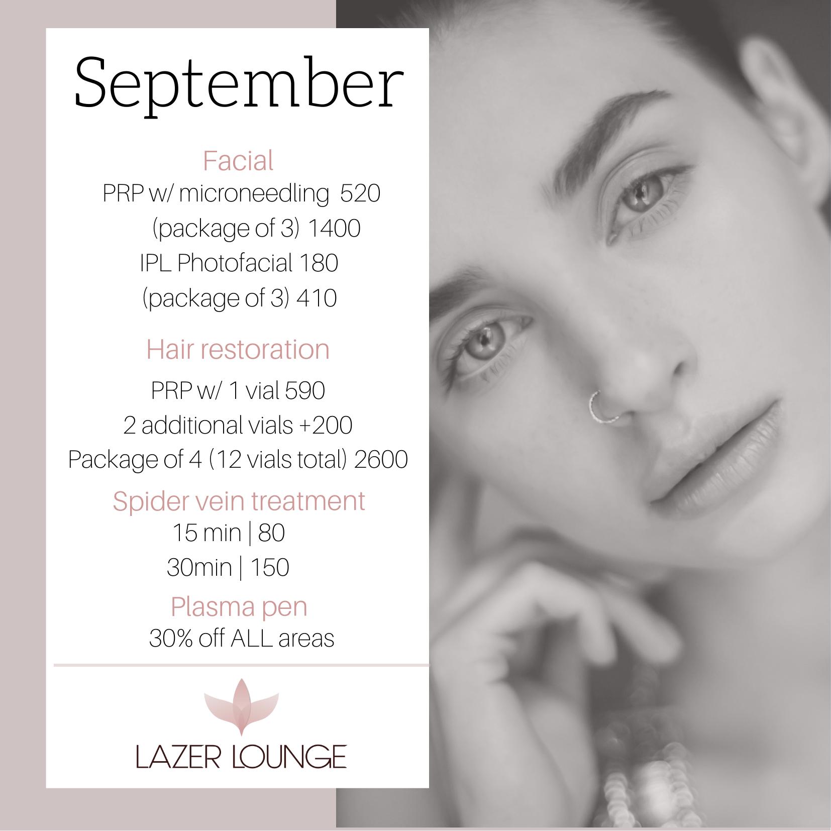 September Facials Special